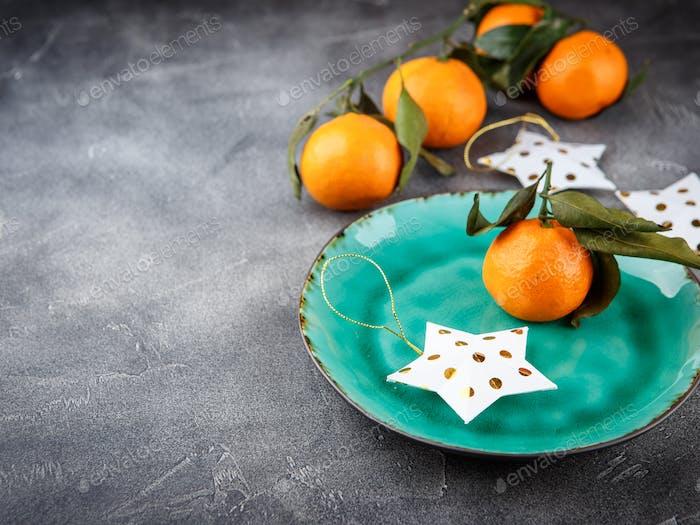 Tangerines - oranges, mandarins, clementines, citrus fruits