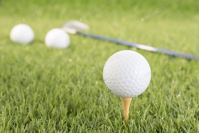 Golf ball on tee-5