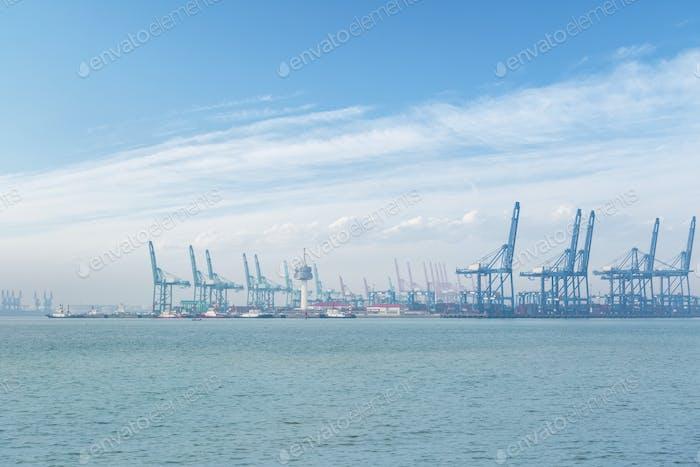 der Hafen von tianjin
