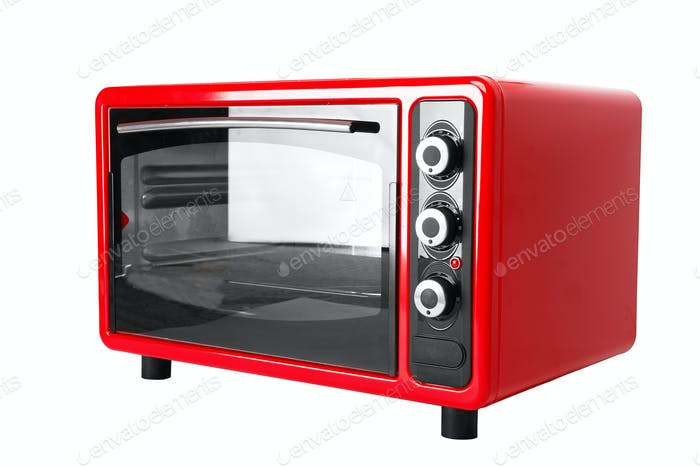 Kitchen red oven