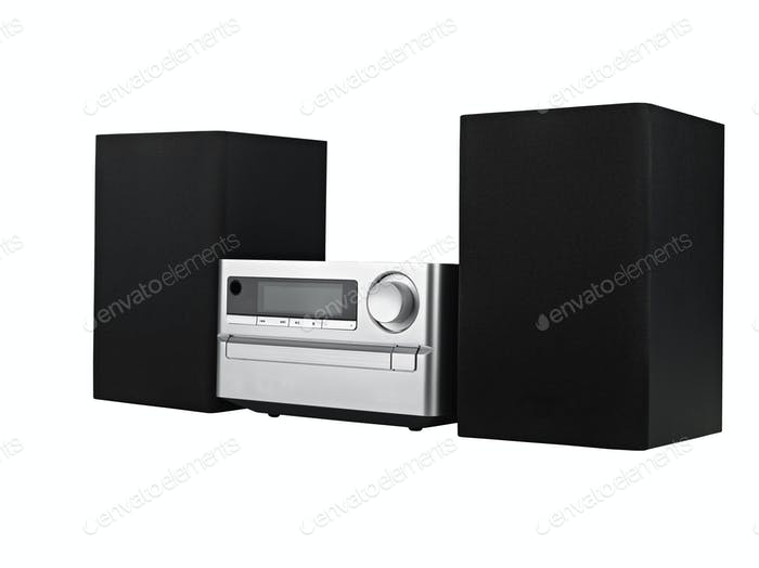 digital usb, cd player against the white background