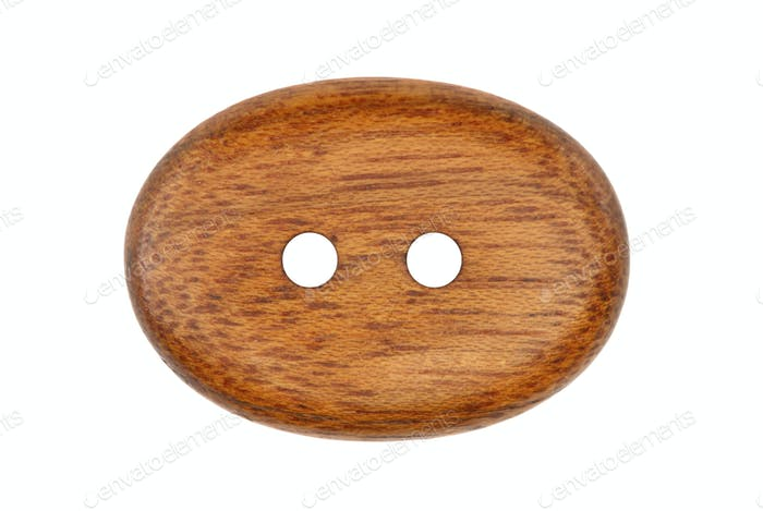 Wooden clothes button