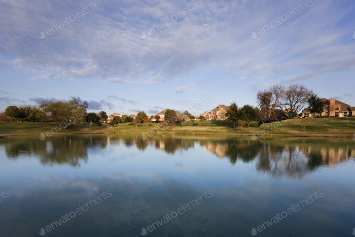 50888,Houses Reflected in Pond