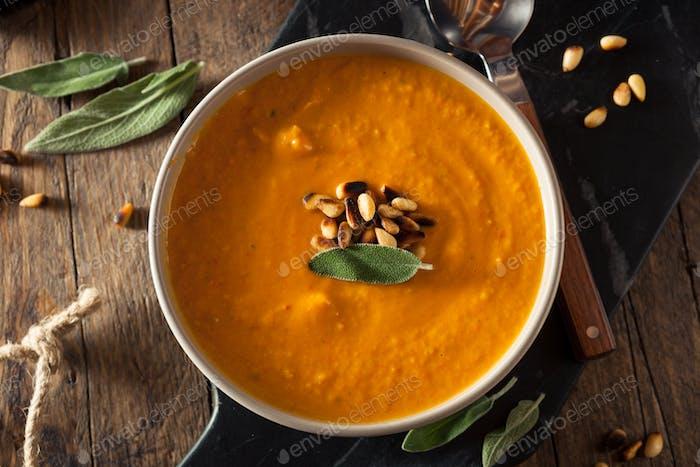 Hausgemachte Karotte Ingwer-Suppe