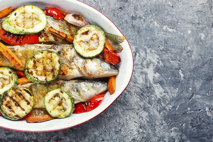 Delicious roasted fish