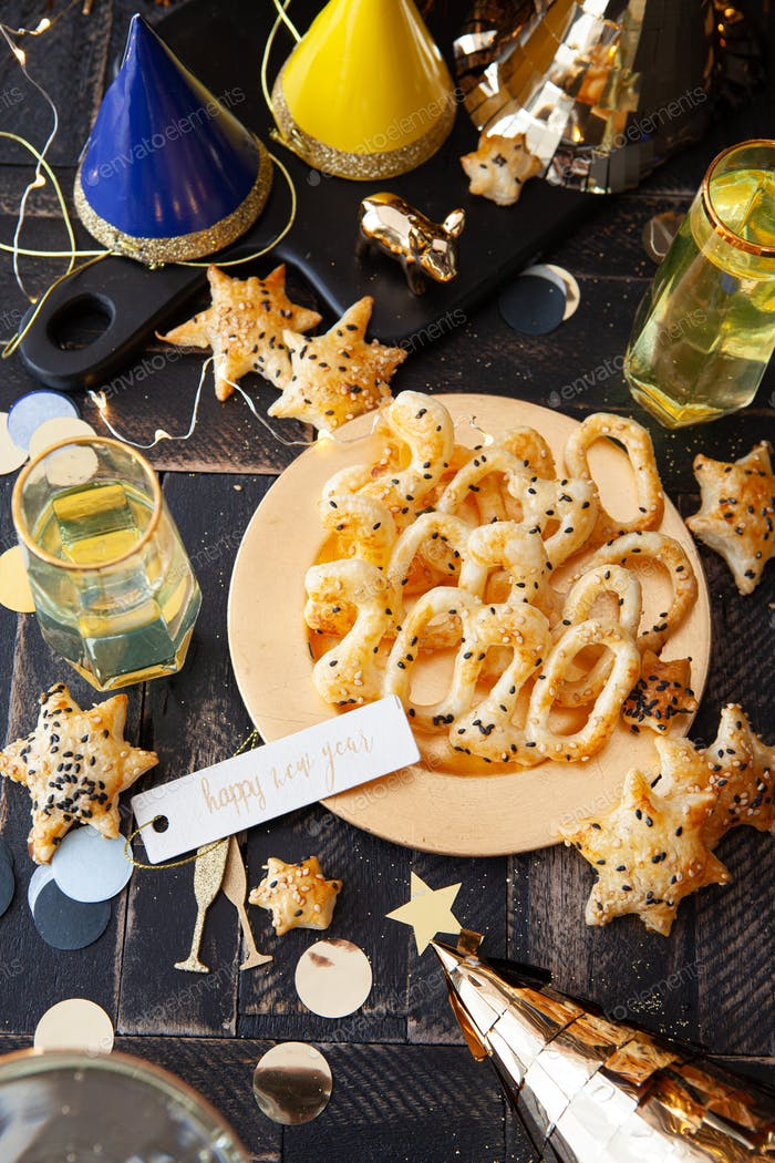 deliciosas galletas para la víspera de Año Nuevo