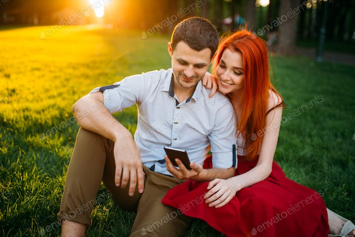 Love couple happy together, romantic date