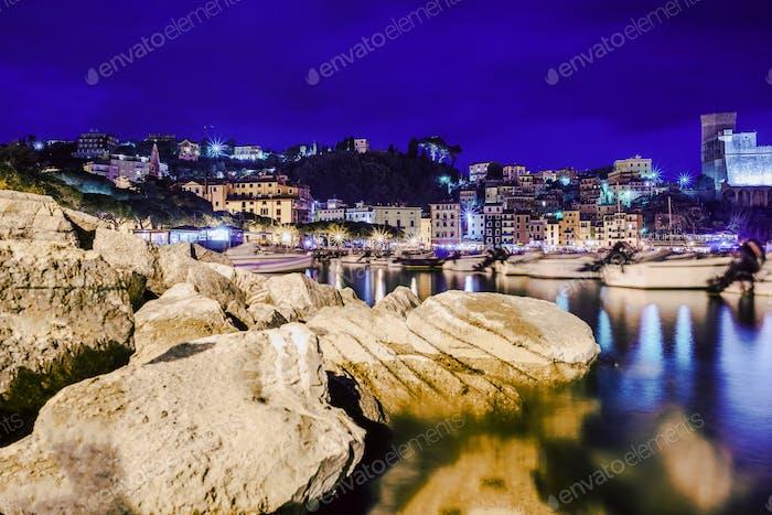 Lerici Marina bei Nacht