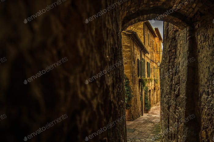 Narrow Italian Village Streets