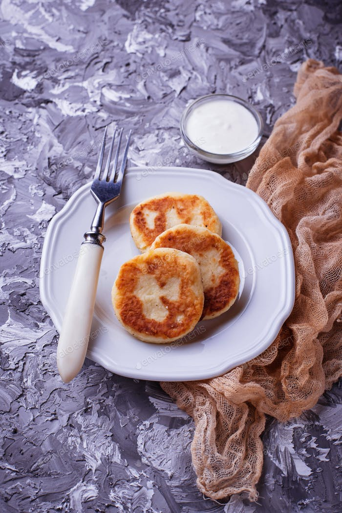 Sweet homemade cheese pancakes