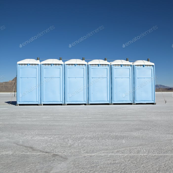 Portable Toilets on Salt Flats