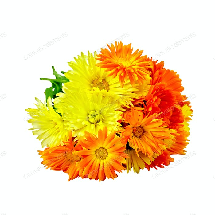 Calendula yellow and orange bouquet