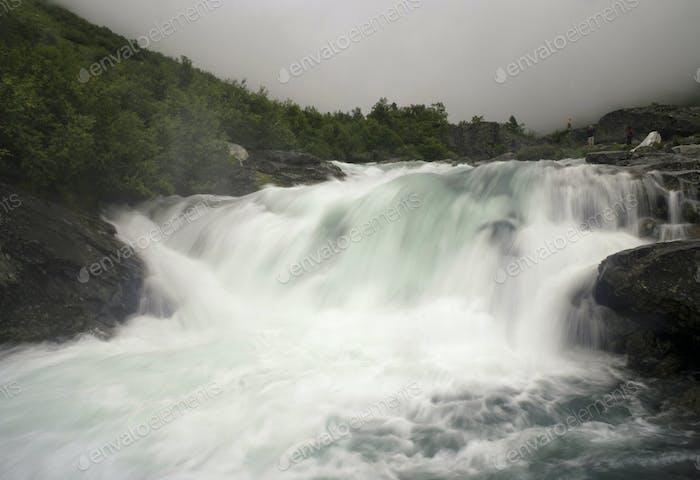 The Buldrefossen waterfall