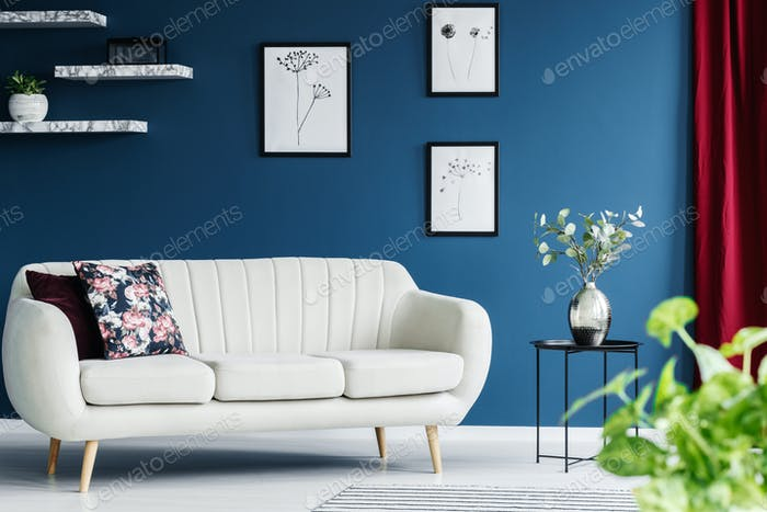 Sofa in a living room