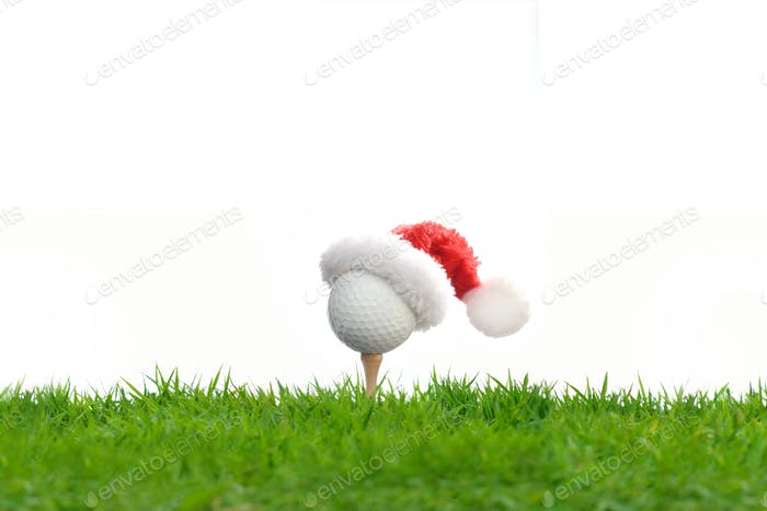 Golf, Christmas, Santa Claus' hat