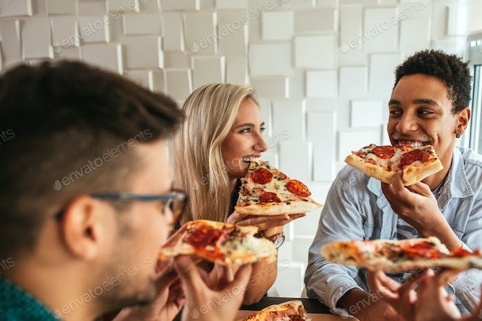 What's better than pizza with friends?