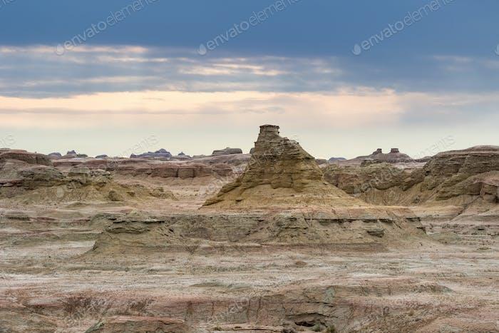 wind erosion landform landscape in xinjiang