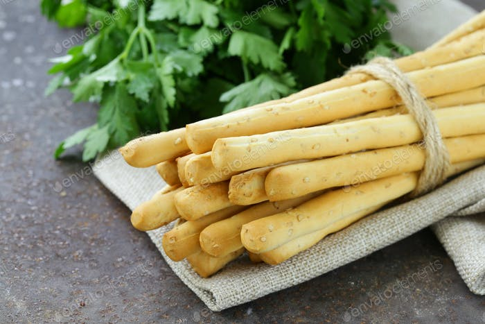 Snack Bread Sticks With Sesame