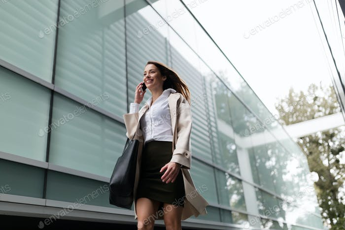 Professional beautiful and attractive businesswoman posing
