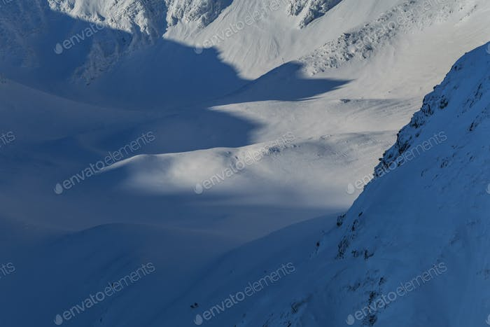 The Fagaras Mountains in winter