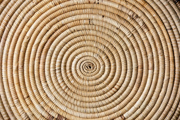 Straw wicker abstract background