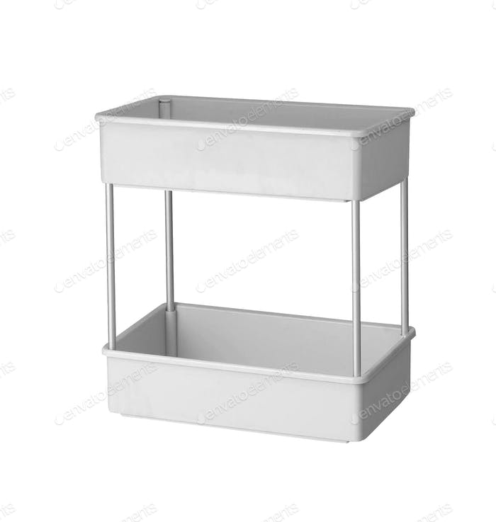 plastic shelves isolated