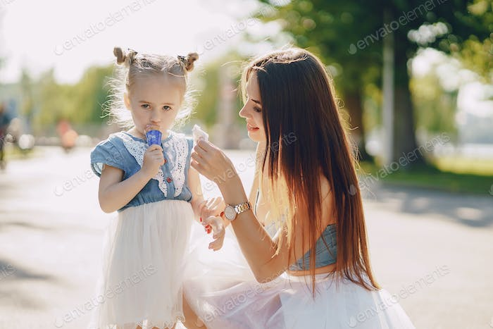 Mother with daughter