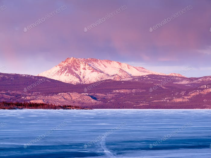 Mount Laurier Lake Laberge Yukon Territory Canada