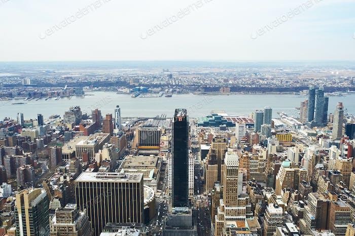 Stadtbild Ansicht von Manhattan vom Empire State Building