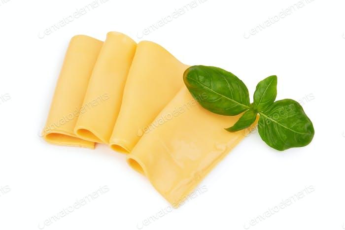 Käsescheiben isoliert