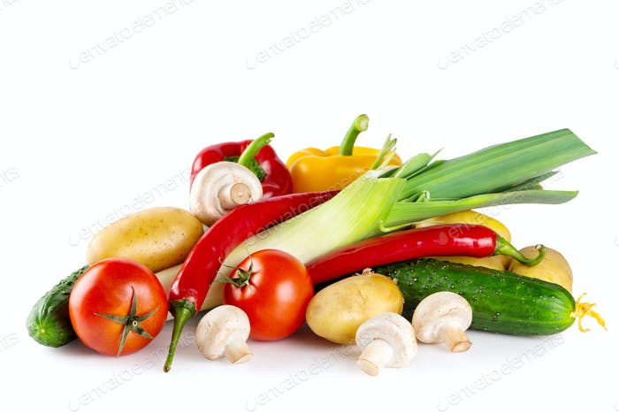 Fresh tasty raw vegetables