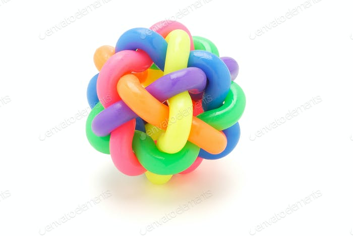 multicolor rings ball