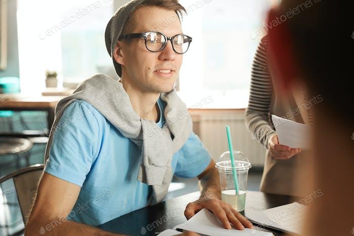 Modern Entrepreneur in Meeting