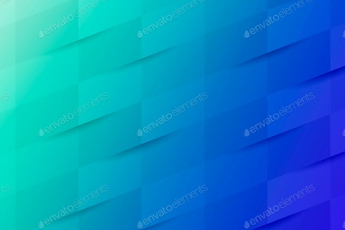 Blue and turquoise geometrical pattern background