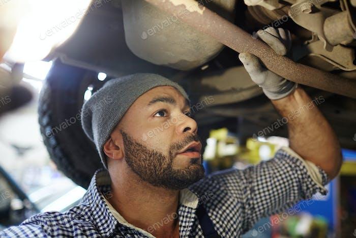 Car examining