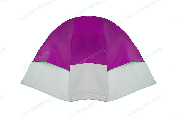 purple tent isolated on white background