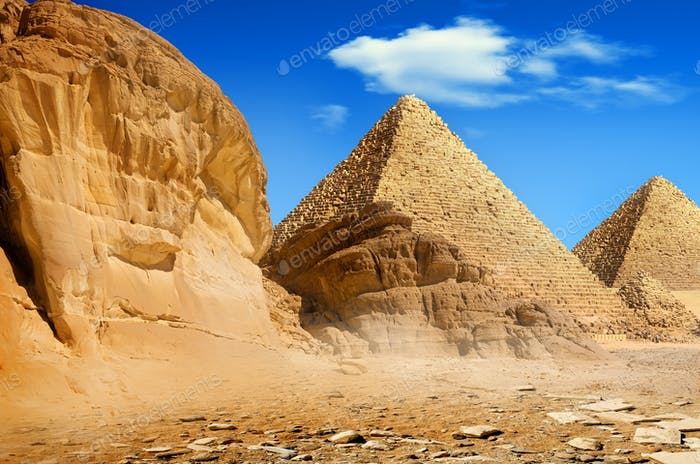 Pyramids in the day