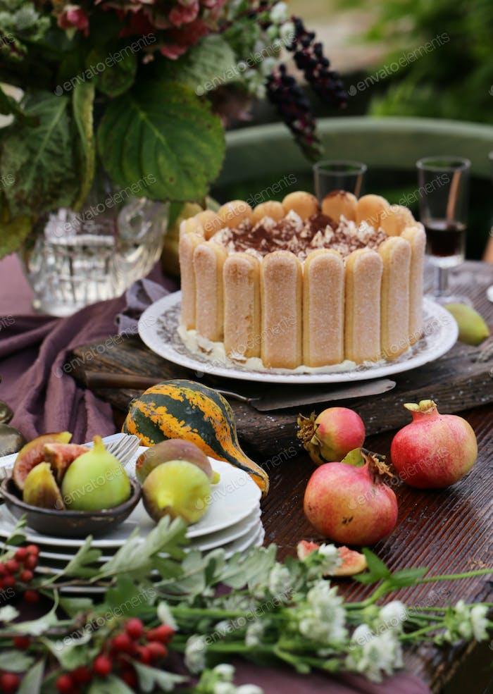 Italian Dessert Tiramisu Cake