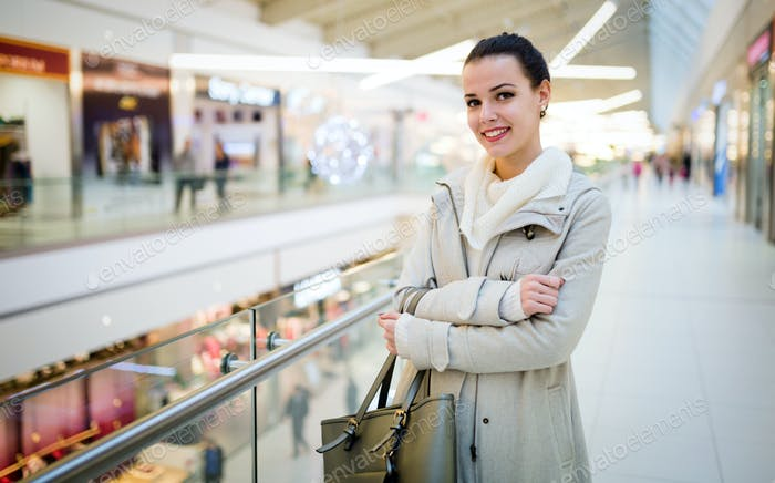 Woman shopping for xmas
