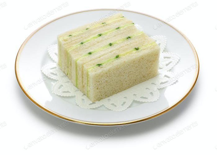 traditional cucumber sandwich