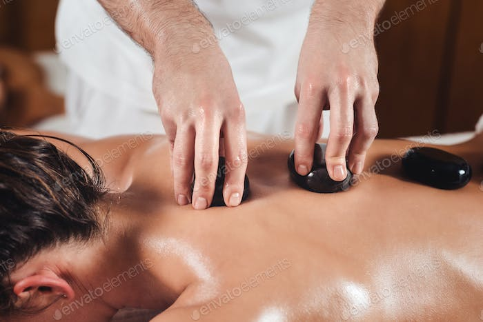 Close Up Hot Stone Massage