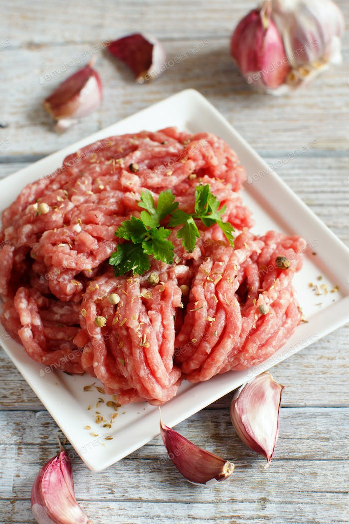 Raw  meatballs are ready to cook