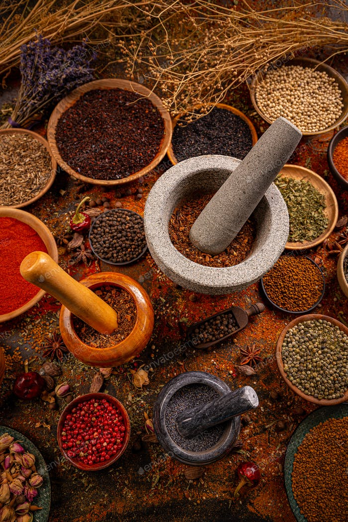 Aromatic Indian spices