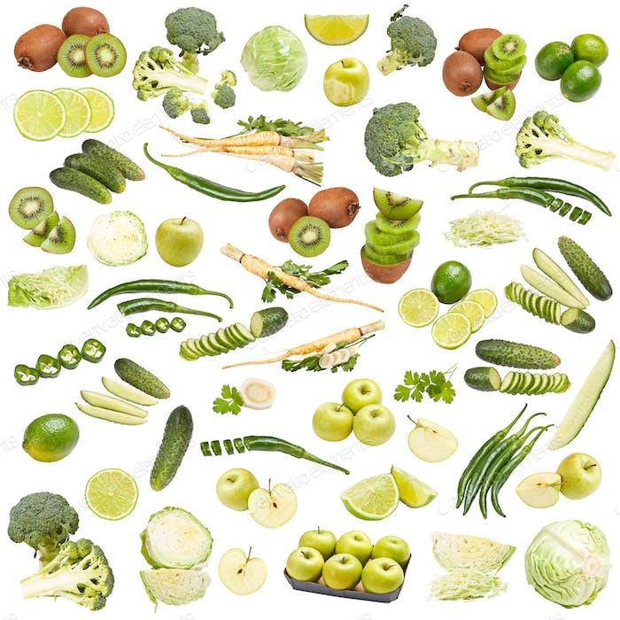 Grüne LebensmittelSammlung