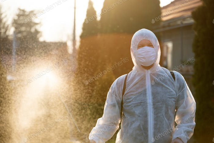 Cleaning and disinfection amid the coronavirus epidemic.