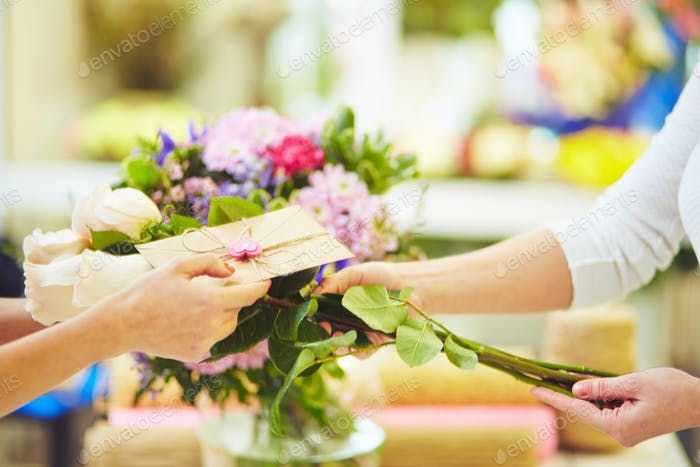 Message for the bouquet