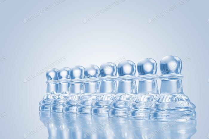 An icy army on its march.