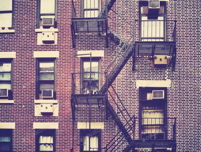 Fire Escapes One Of The New York City Symbols Usa Photo By
