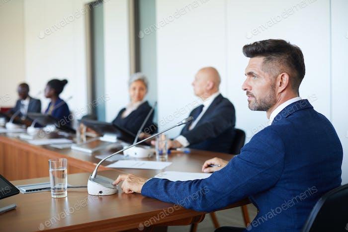 Man speaking a speech
