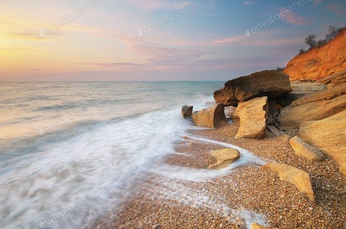 Hermoso paisaje marino natural.